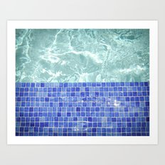 Pool Days Art Print