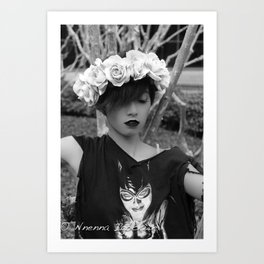 Nu goth fairy2 Art Print
