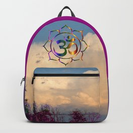Trees Clouds Om Backpack