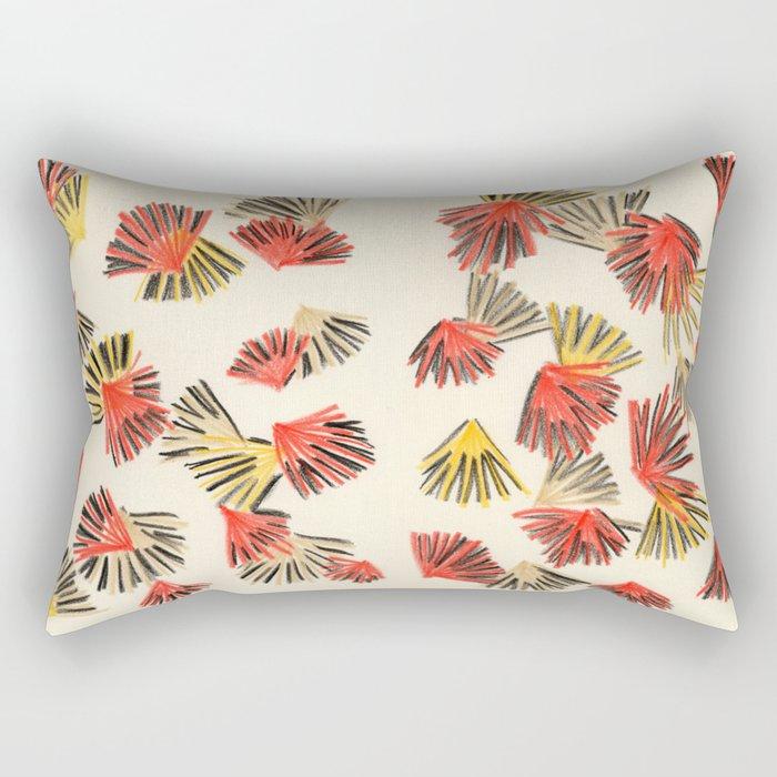 Starburst in Flame Rectangular Pillow