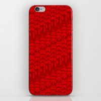 video game iPhone & iPod Skins featuring Video Game Controllers - Red by C.Rhodes Design