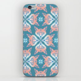 Pastel Fox Pattern iPhone Skin
