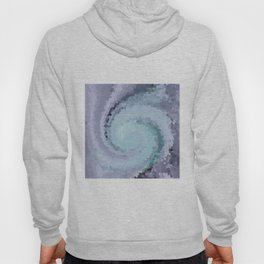 Multicolored mosaic in blue and sky blue colours . Hoody