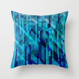 abstract composition in blues Throw Pillow