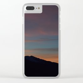 Sunset in the Alps Clear iPhone Case