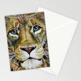 Lion Gaze Stationery Cards