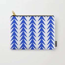 Blu arrows pointing up pattern Carry-All Pouch