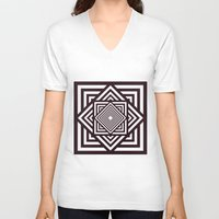 running V-neck T-shirts featuring Running Out by Cs025