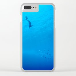 Dive through the rays of sunlight Clear iPhone Case