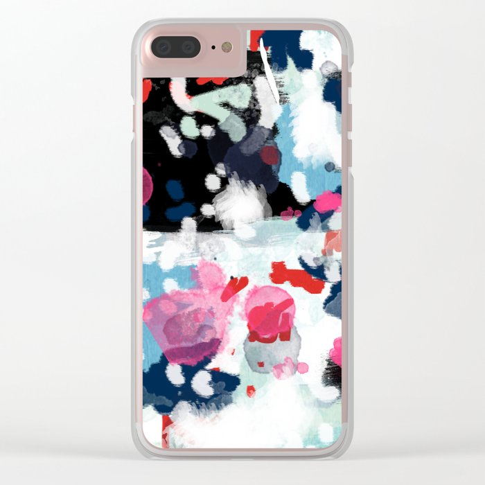 Paige - abstract painting hipster home decor trendy color palette art gifts Clear iPhone Case