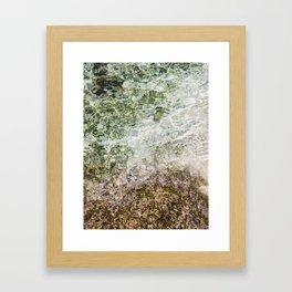 Secret Beach Nusa Lembongan  Bali Close up / Travel photography art print -  sea clear water reflection Framed Art Print