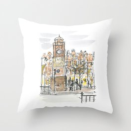 crouch end clock tower Throw Pillow