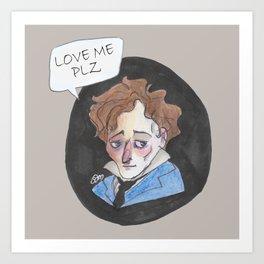 Giacomo Leopardi love me plz Art Print