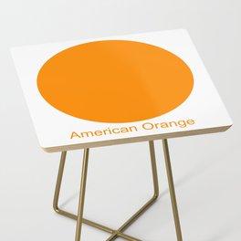 American Orange Side Table