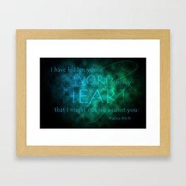 Hidden Your Word Framed Art Print