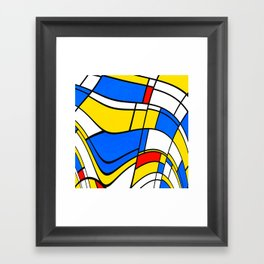 Colorful distorted shapes Framed Art Print