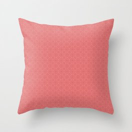 Pink Salmon (Saumon) Tres Petit Geometric Pattern Throw Pillow