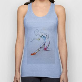 31 (Over), Male nude athletic figure, NYC artist Unisex Tank Top