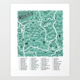 NH 4000 Footer Map Light Green Art Print