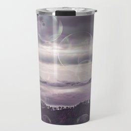 Mystic Landscape With Soap Bubbles Travel Mug