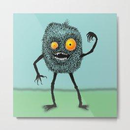 Hairy mean monster Metal Print