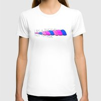 bisexual T-shirts featuring Bisexual, Not Mythical by reallydorky