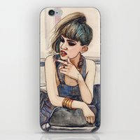 grimes iPhone & iPod Skins featuring Grimes by Helen Green
