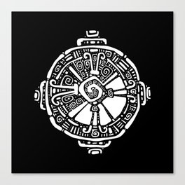 Hunab Ku.  Mayan symbol. Hand Drawn detailed pattern. Canvas Print