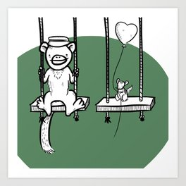 Swings! Art Print