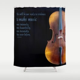 Make Music Shower Curtain