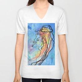 Jellyfish meet Jellyfish Unisex V-Neck