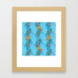 Sweet Lovey Birdies Framed Art Print