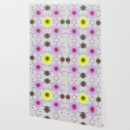 Colored discs with dots Wallpaper