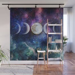 Celestial Ocean Moon Phases | Stay Wild Wall Mural