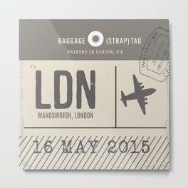 Travel Tag Natural Metal Print