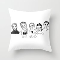 the neighbourhood Throw Pillows featuring The NBHD by ☿ cactei ☿