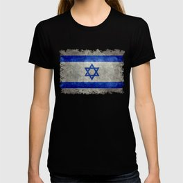 Israeli National Flag in grungy retro style שְׂרָאֵל‎ T-shirt