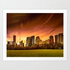 Sunset over Midtown Manhattan Art Print