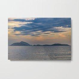 Landscape Scene from Ipanema Beach Rio de Janeiro Brazil Metal Print