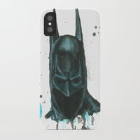 bat man iPhone & iPod Cases featuring Bat man by McCoy