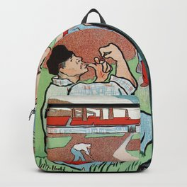 Mévisto in the country French theatre ad Backpack