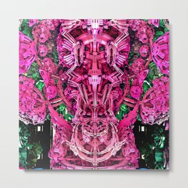 Exoskeleton Pink Metal Print
