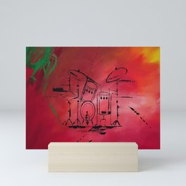 Music, Drummer, Drums, Orignal Artwork By Jodi Tomer. Rock and Roll Drums Mini Art Print