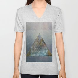 Perseid - Contemporary Geometric Pyramid Unisex V-Neck