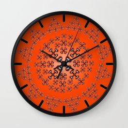 Holloween Crossbones Medallion Wall Clock