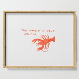 The World is Your Lobster Serving Tray