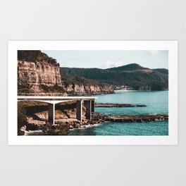 Sea Cliff Bridge. New South Wales. Australia. Art Print