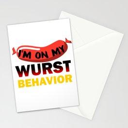 What Happens in the Biergarten Oktoberfest print Stationery Cards