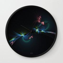 Fey Lights Fractal in Aurora 01 Wall Clock