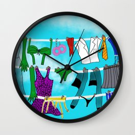 After The Dirty Weekend Wall Clock